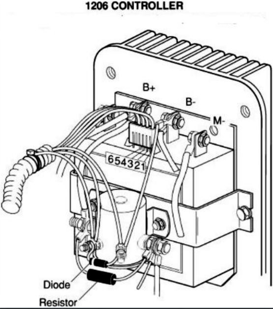 zone electric cart wiring diagram ford 4630 electrical
